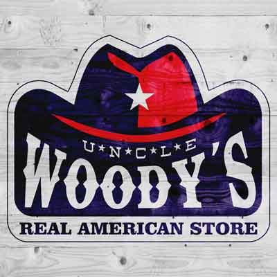 Grund des Auswandern Woodys Real American Store