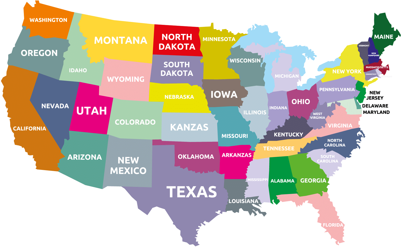 us bundesstaaten karte Bundesstaaten der Vereinigten Staaten • USA   Wir kommen