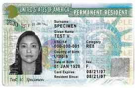 Milestone Visum Green Card